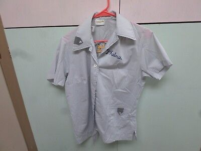 70's VINTAGE KING LOUIE WOMEN'S BOWLING SHIRT WONG'S SILVER SPUR  HELENA, MONT.