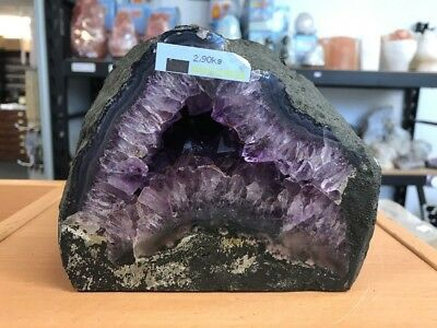 2.9 Kilo Amethyst Crystal Cave From Brazil /  GOOD COLOUR (#0757)