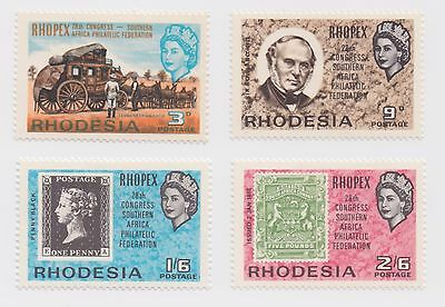 1966 Rhodesia - International Stamp Exhibition - Complete Set of 4 Stamps
