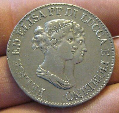 Lucca (Italy) - 1807 Large Silver 5 Franchi