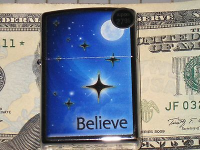 New ZIPPO Windproof Lighter 29071 Believe Star of David Christ Jesus Bled for US