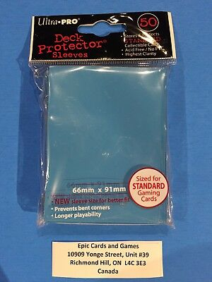 ( LIGHT BLUE Pokemon Sleeves ) 50ct Small Size Deck Protectors - Ultra Pro MAGIC
