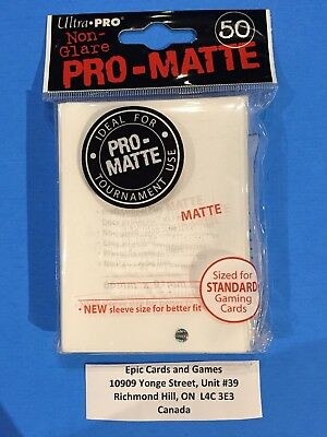 ( WHITE Pokemon Sleeves ) 50ct Small Size Deck Protectors - Ultra Pro PRO-MATTE