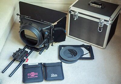 Redrock microMatteBox Deluxe Bundle + 4x5.65 filters +15mm Rod Support Kit (9+)