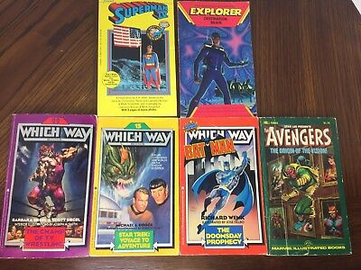 Lot Of 6 Superhero PB Books - Which Way / Superman / Marvel Avengers