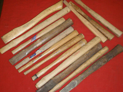 Vintage hammer and hatchet handles, various makers NOS. lot of 15
