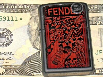 Rock New Fender Guitar FMIC Music Gear Jazz Classic USA ZIPPO Windproof Lighter