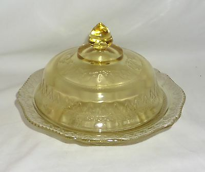 Federal PATRICIAN AMBER *BUTTER DISH w/LID*