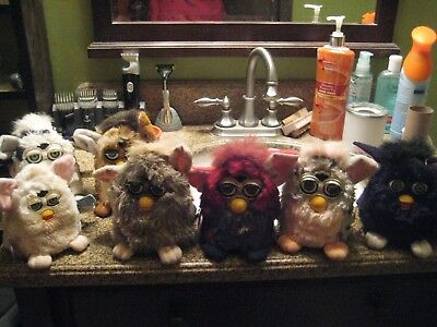 Lot Of  7 Furby Toys For Parts,  UNTESTED