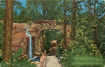 Lookout Mountain, Tennessee, TN, Entrance to Rock City, Vintage Postcard a8895