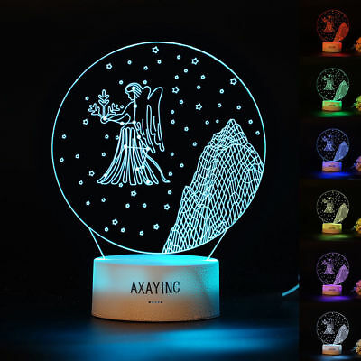 AXAYINC Virgo 3D LED Night light Touch Swift Table Desk Lamp Kids Gift 7 Color