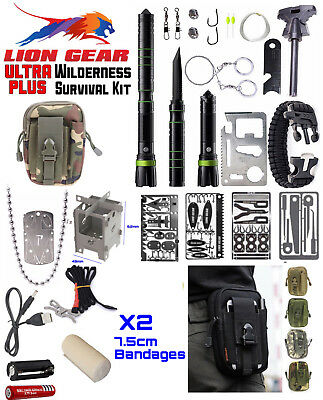 Lion Gear Green Camo Ultra Plus Survival Kits Hunting Fishing Emergency