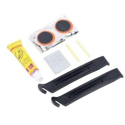 Hot Bike Bicycle Cycling Flat Tyre Repair Tool Set Kit Rubber Patch Lever Fix