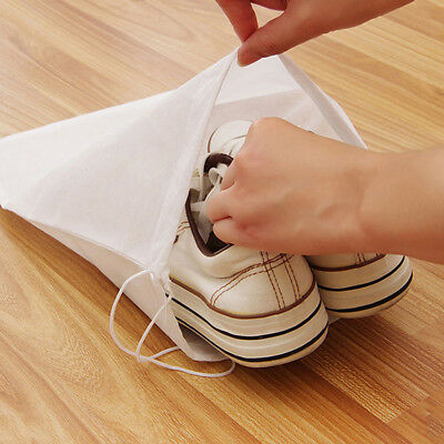 Non-woven Reusable Portable Shoes Bag Travel Storage Pouch Drawstring Dust Bags