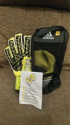 *new* $140 Adidas Ace Trans Fingersave Pro Goalkeeper Gloves Size 11