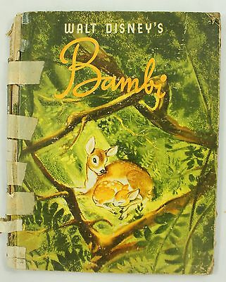 Walt Disney Bambi Simon Schuster 1941 Vintage Illustrated Story Picture Book