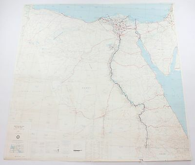 Middle East Road Egypt Vintage Defense Mapping Agency Topographic Map