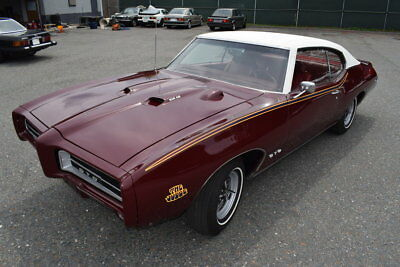1969 Pontiac GTO  1969 Burgundy Coupe GTO JUDGE 4 Speed Restored Collector Classic