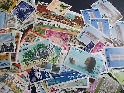 Nauru - 170 different stamps, nice colourful range, lots of Mint (2S)