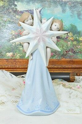 "Lladro # 6747 "" A Celestial Christmas "" Tree Topper Figurine MIB"