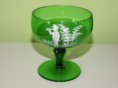 Vintage Victorian Mary Gregory Glass Bowl.