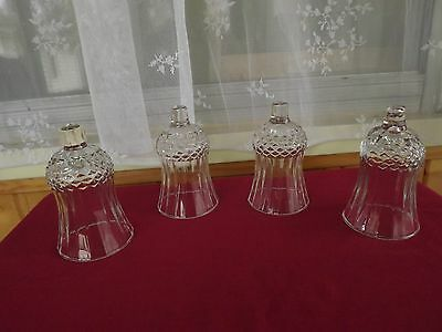 Lot of 4 Vintage Clear Diamond Point  Home Interior Votive Cups