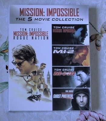 Mission Impossible The 5-Movie Collection DVD Includes all 5 Movies Tom Cruise