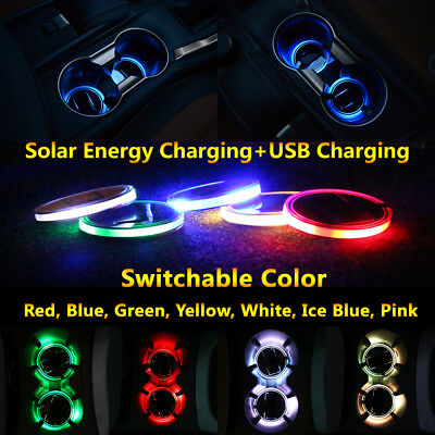 1pcs Mitsubishi Car Led Coaster Solar Energy Lights Exterior Mouldings Trim Lamp
