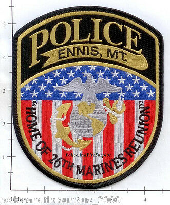 Montana - Ennis MT Police Dept Patch - Home of 26th Marines Reunion