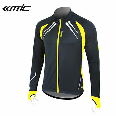 Santic Fleece Thermal Long Jersey Winter Jacket Gabriel Black Yellow
