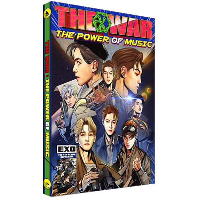 EXO 4th REPACKAGE: THE WAR, THE POWER OF MUSIC, CD+COMIC (NO PC), UNSEALED