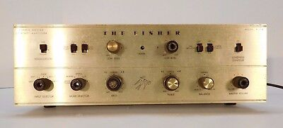 Fisher X-100 Integrated Amplifier Amp El84 Non-Working For Parts All Original