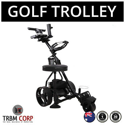 Golf Buggy Trolley Motorised 500W Digital 33 AH Battery 36 Holes Folding Cart