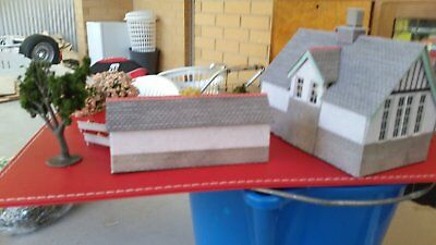 a cardstock school in ho scale for a model train layout