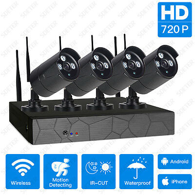 720P Wireless NVR Kit P2P HD Outdoor IR CUT Security IP Camera WIFI CCTV System
