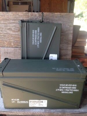 TWO PA-120 40mm Ammo Can/Ammunition Box very good condition FREE USA SHIPPING