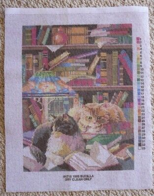 BUCILLA TAPESTRY CANVAS FRIENDS of the LIBRARY 4710 40 x 30 cm's NO WOOL COTTON