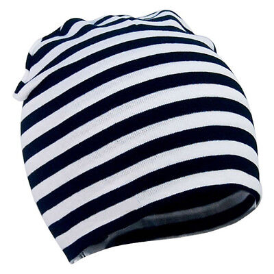 Baby Toddler Cotton Soft Hat Beanies Cap Colour #2: Black and white stripes D3Y7
