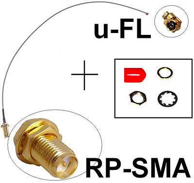 25 cm langes Adapter Kabel RP-SMA uFL WiFi Fritz!Box Pigtail Ipex u.FL Antenne