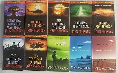 JOHN MARSDEN Bulk 10 Books TOMORROW WHEN THE WAR BEGAN Series & ELLIE CHRONICLES