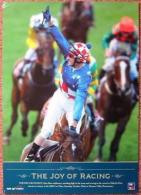 2005  TAB  Horse Racing Publicity Poster:  COX PLATE WINNER MAKYBE DIVA
