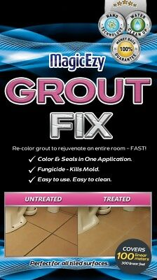 MagicEzy Grout Fix (colors & seals in one application + kills mold)
