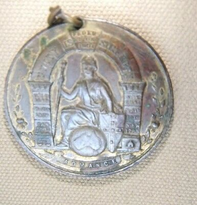 1901 Federation of Australia Gilded Bronze Medal/ Medallion - QLD Issue
