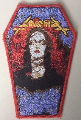 SARCOFAGO coffin WOVEN Patch cemetery Mercyful fate entombed dismember carcass
