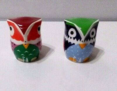 SALT AND PEPPER SHAKERS - OWLETS - Ceramic