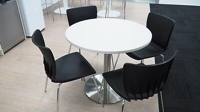 Modern Round Cafe Table With 4 Chairs