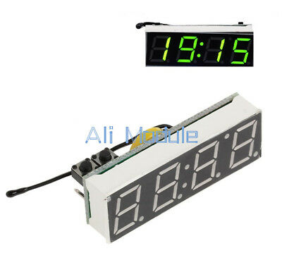 3 in 1 Green LED DS3231SN Digital Clock Temperature Voltage Module Electronic AM