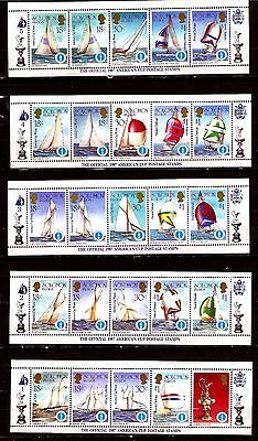 EP276 ILE SOLOMON 50T. neufs :The official 1987 América's cup,la coupe América