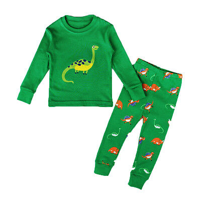 AU STOCK Kids Baby Boy Girls Dinosaur Pyjamas Set Nightwear Sleepwear Homewear