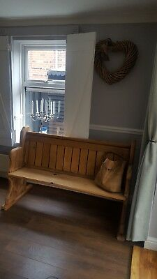 church pew (pitch pine)bench/dining room